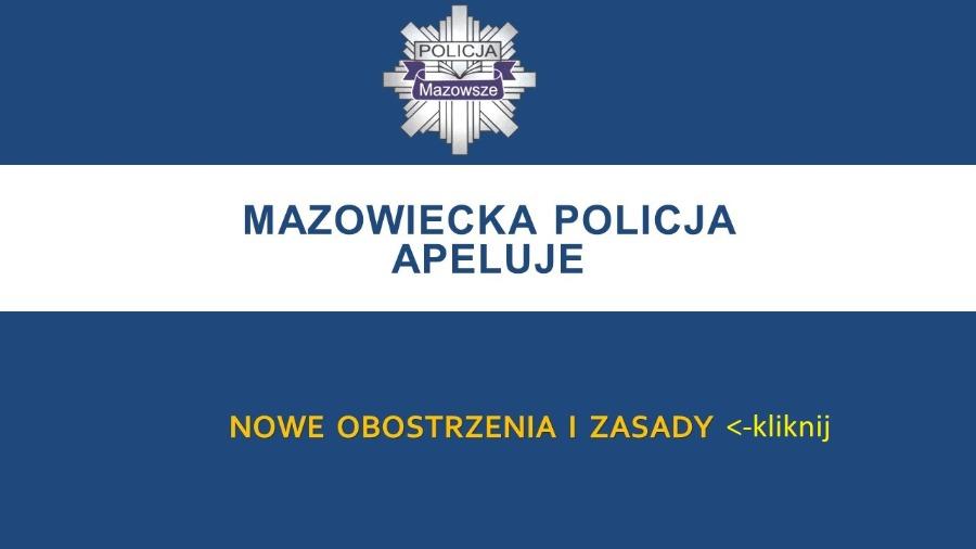 zostań w domu policja